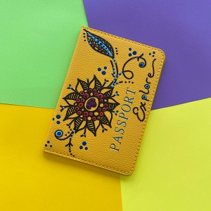 Passport Cover (Yellow Flower Original) Hand Painted
