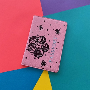 Passport Cover (Light Pink Flower Original) Hand Painted
