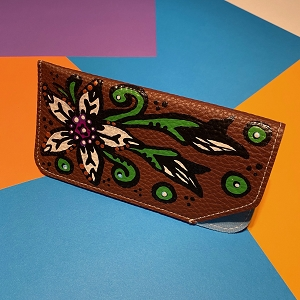 Glasses Case (Original) Hand Painted Flowers